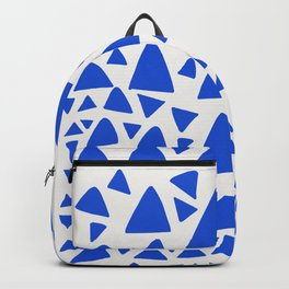 Blue Triangles Abstract Minimal Art Backpack