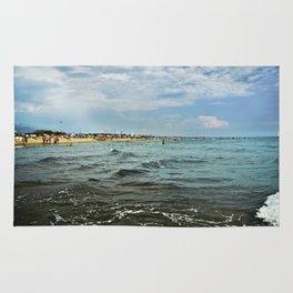 Versilia Italy Beach Ocean Coast View Horizontal Rug