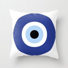 evil eye, blue, Throw Pillow
