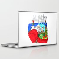 guinea pig Laptop & iPad Skins featuring Guinea Pigs In A Cage by Adamzworld