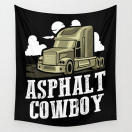 Asphalt Cowboy | Trucker Wall Tapestry