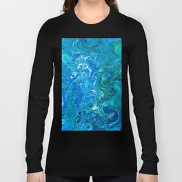 Elegant Crazy Lace Agate 2 - Blue Aqua Long Sleeve T-shirt