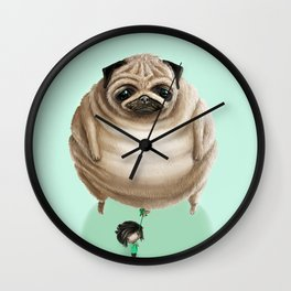 The Pug Wall Clock