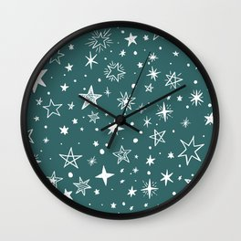 Multiple shapes and sizes stars III Wall Clock