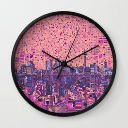 san antonio city skyline abstract 5 Wall Clock