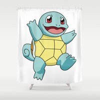 squirtle Shower Curtains featuring Squirtle by dada