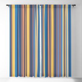 Stripe obsession color mode #6 Blackout Curtain
