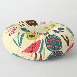 Fruit and Spice Rack Floor Pillow