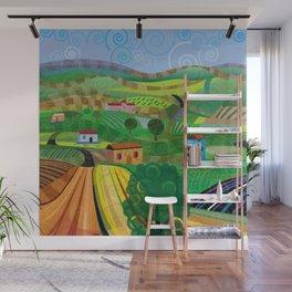 Santa Barbara Wine and Cheese (Square) Wall Mural