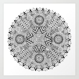 Mandala one Art Print