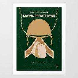 No520 My Saving Private Ryan minimal movie poster Art Print