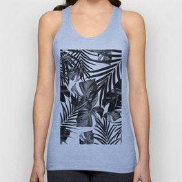 Tropical Jungle Leaves Pattern #10 #tropical #decor #art #society6 Unisex Tank Top
