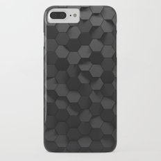 Black abstract hexagon pattern iPhone 7 Plus Slim Case