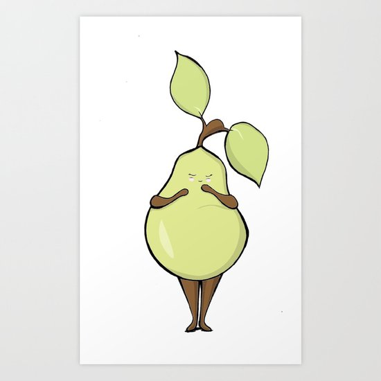 Blushing Pear Art Print