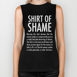 of Shame (on dark) Biker Tank