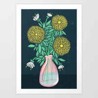 Chrysanthemum Bouquet Art Print