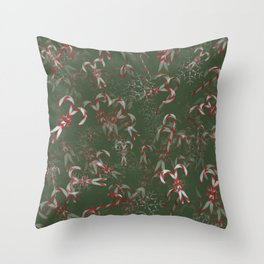 Candy Canes Galore! Throw Pillow