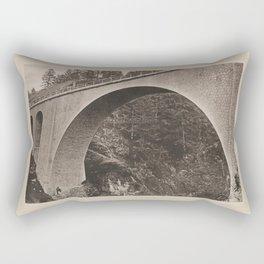 Grande Arche du Pont de lAiguille Les Travaux Publics de la France Rectangular Pillow