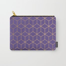 Ultra Violet Geometric Carry-All Pouch
