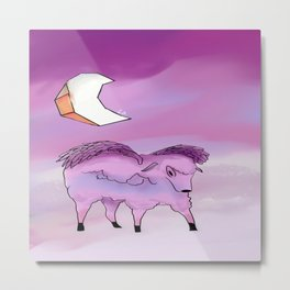 Sheep EeEe Metal Print