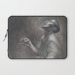 African-American Classical Masterpiece 'Folk Singer' by Charles White Laptop Sleeve