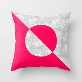 Concrete Contrast 01 Throw Pillow