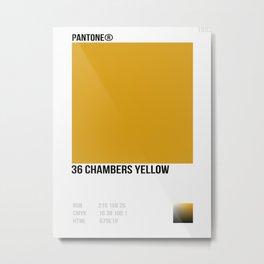 36 Chambers Yellow Metal Print