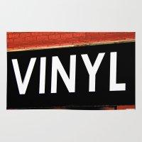vinyl Area & Throw Rugs featuring Vinyl by Biff Rendar