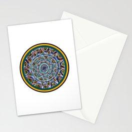 Free Hand Mandala in Circles Stationery Cards