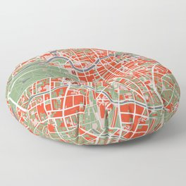 Berlin city map classic Floor Pillow