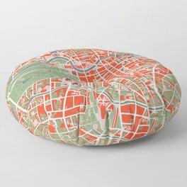 Berlin city map classic Floor Pillow