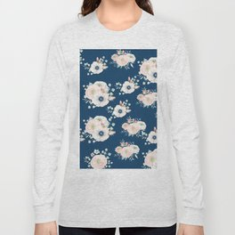 Dog Rose Pattern Long Sleeve T-shirt