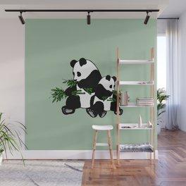 Growing Up Panda Wall Mural