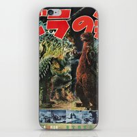 godzilla iPhone & iPod Skins featuring Godzilla by Golden Boy