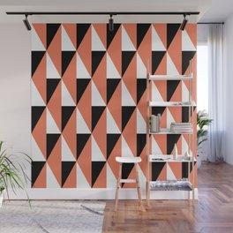 Geometric Pattern 78 (salmon pink triangles) Wall Mural