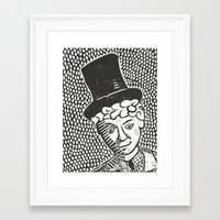 marx Framed Art Prints featuring Harpo Marx by Peter Dunne