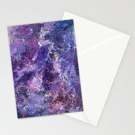 Violet Drops Abstraction Stationery Cards