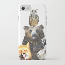 Woodland Animal Friends iPhone Case