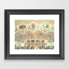 Vintage Carousel Framed Art Print