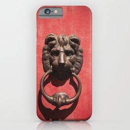 Red Door with Lion head iPhone Case