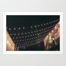 String Lights Art Print
