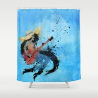 marceline Shower Curtains featuring Sweet Licks by Melissa Smith