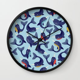 Narwhal Dance Wall Clock