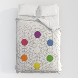 Max Becke's trichromatic solid (remake) Comforters