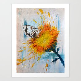 Butterfly and Flower Art Print
