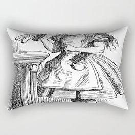 Alice in Wonderland Drink Me Bottle Transparent Background Rectangular Pillow