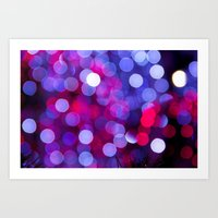 bokeh Art Prints featuring Bokeh by Alyson Cornman Photography
