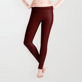 Jam Red, Solid Red Leggings
