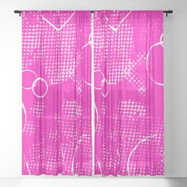 Texture #26 in Hot Pink Sheer Curtain