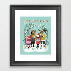 Woodland Christmas Carols by Andrea Lauren  Framed Art Print